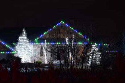 Gable Lights and Tree Wraps