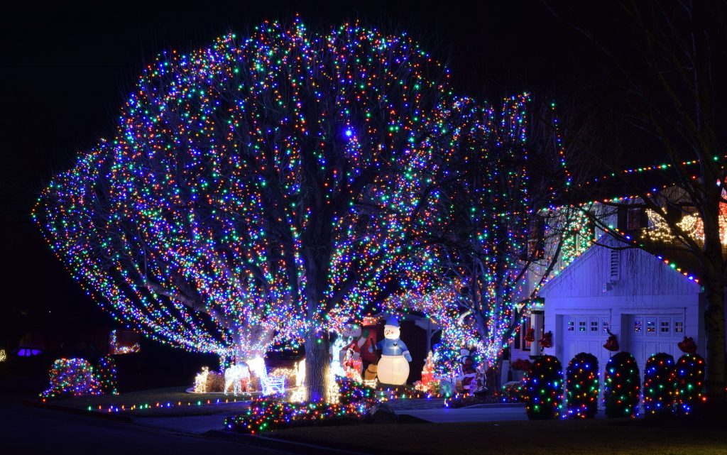 Colorful Tree Wrap with Inflatables