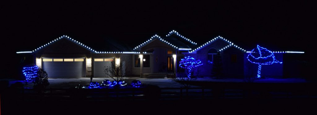 Simple Roof Lights and Blue Tree Wraps